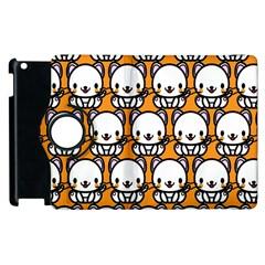 Sitwhite Cat Orange Apple iPad 3/4 Flip 360 Case