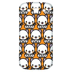 Sitwhite Cat Orange Samsung Galaxy S3 S III Classic Hardshell Back Case