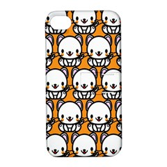 Sitwhite Cat Orange Apple iPhone 4/4S Hardshell Case with Stand