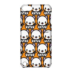 Sitwhite Cat Orange Apple iPod Touch 5 Hardshell Case with Stand