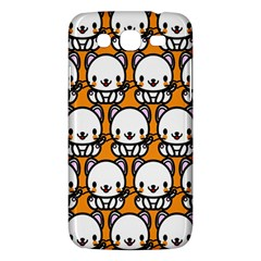 Sitwhite Cat Orange Samsung Galaxy Mega 5.8 I9152 Hardshell Case