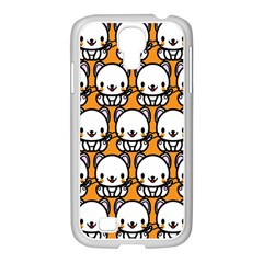 Sitwhite Cat Orange Samsung GALAXY S4 I9500/ I9505 Case (White)