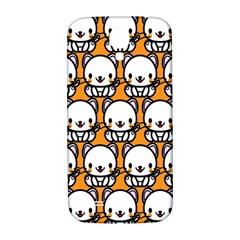 Sitwhite Cat Orange Samsung Galaxy S4 I9500/I9505  Hardshell Back Case