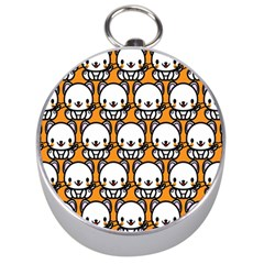 Sitwhite Cat Orange Silver Compasses