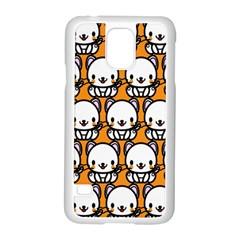 Sitwhite Cat Orange Samsung Galaxy S5 Case (White)