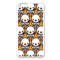 Sitwhite Cat Orange Apple iPhone 6 Plus/6S Plus Enamel White Case