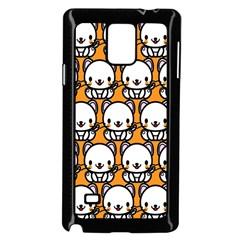Sitwhite Cat Orange Samsung Galaxy Note 4 Case (Black)