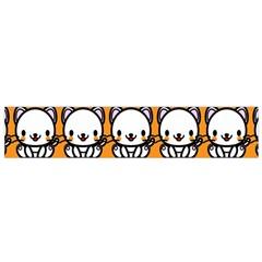 Sitwhite Cat Orange Flano Scarf (Small)