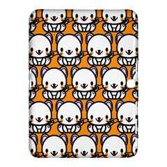 Sitwhite Cat Orange Samsung Galaxy Tab 4 (10.1 ) Hardshell Case