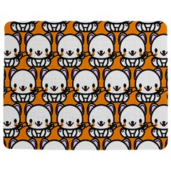 Sitwhite Cat Orange Jigsaw Puzzle Photo Stand (Rectangular)