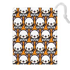 Sitwhite Cat Orange Drawstring Pouches (XXL)