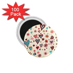 Valentine Heart Pink Love 1.75  Magnets (100 pack)