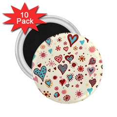 Valentine Heart Pink Love 2.25  Magnets (10 pack)