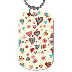 Valentine Heart Pink Love Dog Tag (One Side)