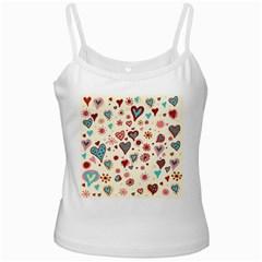 Valentine Heart Pink Love Ladies Camisoles