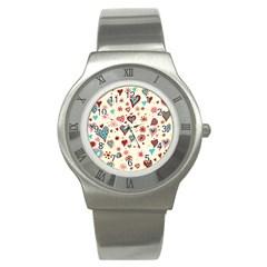 Valentine Heart Pink Love Stainless Steel Watch