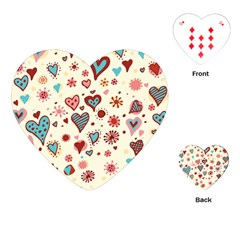 Valentine Heart Pink Love Playing Cards (Heart)