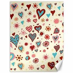 Valentine Heart Pink Love Canvas 36  x 48