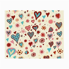 Valentine Heart Pink Love Small Glasses Cloth (2-Side)