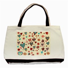Valentine Heart Pink Love Basic Tote Bag (Two Sides)