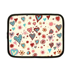 Valentine Heart Pink Love Netbook Case (Small)