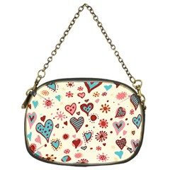 Valentine Heart Pink Love Chain Purses (One Side)