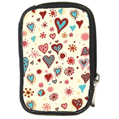 Valentine Heart Pink Love Compact Camera Cases