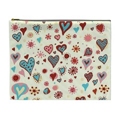 Valentine Heart Pink Love Cosmetic Bag (XL)