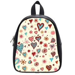 Valentine Heart Pink Love School Bags (Small)