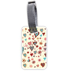 Valentine Heart Pink Love Luggage Tags (One Side)
