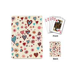 Valentine Heart Pink Love Playing Cards (Mini)