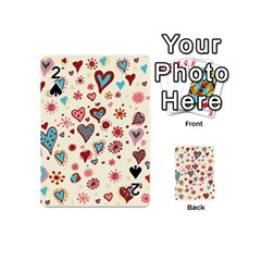 Valentine Heart Pink Love Playing Cards 54 (Mini)