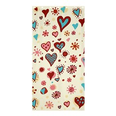 Valentine Heart Pink Love Shower Curtain 36  x 72  (Stall)