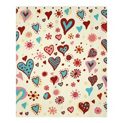 Valentine Heart Pink Love Shower Curtain 60  x 72  (Medium)