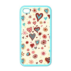 Valentine Heart Pink Love Apple iPhone 4 Case (Color)