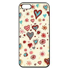 Valentine Heart Pink Love Apple iPhone 5 Seamless Case (Black)