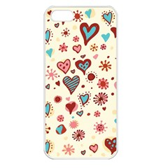 Valentine Heart Pink Love Apple iPhone 5 Seamless Case (White)