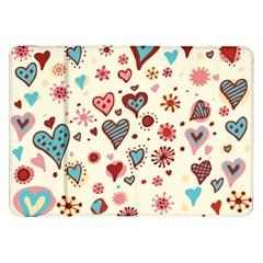 Valentine Heart Pink Love Samsung Galaxy Tab 8.9  P7300 Flip Case