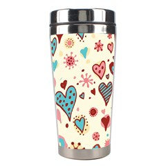 Valentine Heart Pink Love Stainless Steel Travel Tumblers