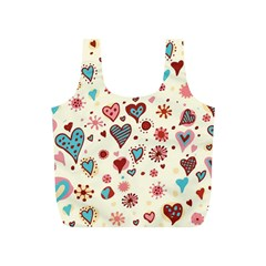Valentine Heart Pink Love Full Print Recycle Bags (S)