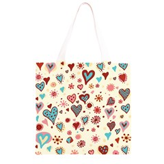 Valentine Heart Pink Love Grocery Light Tote Bag