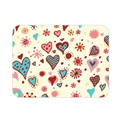 Valentine Heart Pink Love Double Sided Flano Blanket (Mini)