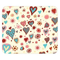 Valentine Heart Pink Love Double Sided Flano Blanket (Small)
