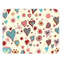 Valentine Heart Pink Love Double Sided Flano Blanket (Large)