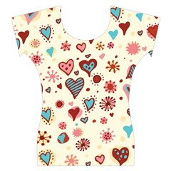 Valentine Heart Pink Love Women s Cap Sleeve Top