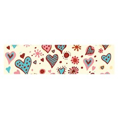 Valentine Heart Pink Love Satin Scarf (Oblong)