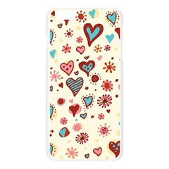 Valentine Heart Pink Love Apple Seamless iPhone 6 Plus/6S Plus Case (Transparent)