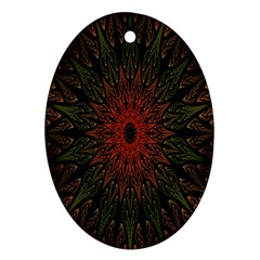 Sun Oval Ornament (Two Sides)