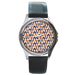 Wave Rope Round Metal Watch