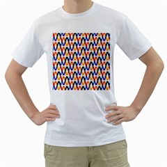 Wave Rope Men s T-Shirt (White) (Two Sided)